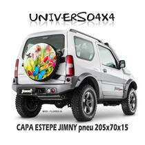 Capa Estepe Jimny, Suzuki Pneu205x70x15, Borboleta Flores 03