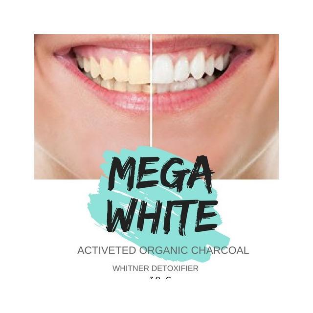 12 Unidades Po Clareador Dental Carvao Ativado Mega White Em
