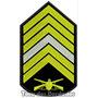 Bordado Termoc. Divisa Primeiro Sargento Patch Guerra Mlt9
