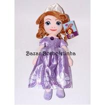 Boneca De Pelúcia Princesinha Sofia Tam 50cm