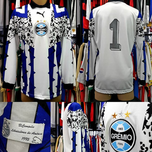Camisa Grêmio - Puma - Goleiro - Manga Longa - M - Nº1 c113b14b89678