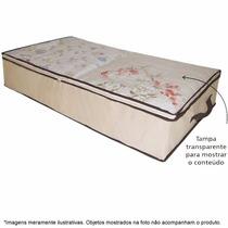 Caixa Organizadora Flexível C/ Visor Armário Closet 80x45x15