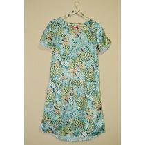 Vestido Feminino Verão De Cetim Estampado