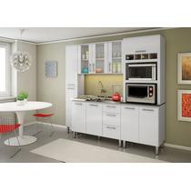 Cozinha Com Balcão Para Pia Malu Nicioli Branco Uv Brilho