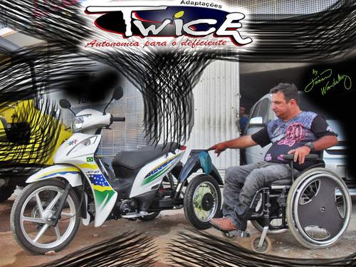 MOTO SHINERAY ADAPTADA PARA 3 RODAS