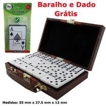 Dominó Profissional Branco/preto Grande + Maleta + Brindes