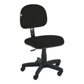 Cadeira De Escritório Shop Cadeiras Secretária Giratória Tecido Preta Con Estofado Do Polipropileno