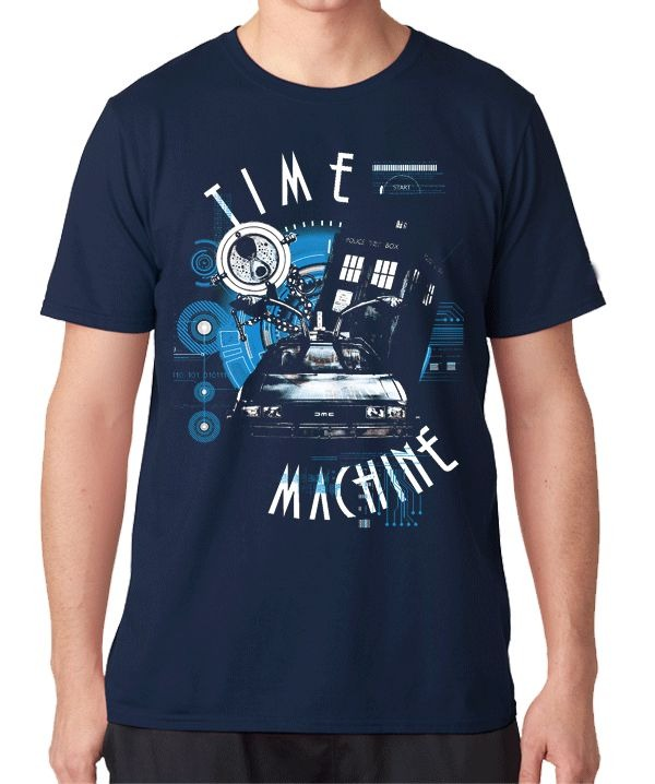 Camiseta Time Machine De Volta para o futuro Doctor Who