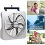 Ventilador 30cm Funciona Com Pilha E Fonte 110v 220v 2284