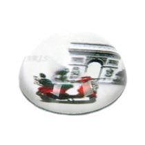 Peso De Mesa Lambretta Vermelha Em Vidro
