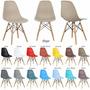 Kit 4 Cadeira Charles Eames Dsw Wood Cadeira Novas Cores