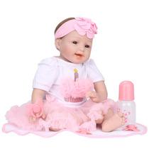 Boneca Reborn Para Crianças Brinquedos, Bebê 55cm