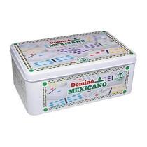 Domino Mexicano 91 Peça Na Lata C/trem E Pça Central