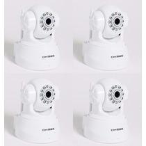 Kit 04 Camera Ip Wireless Visao Noturna Smartphone Audio P2p