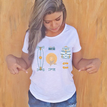 Camiseta Feminina Praia