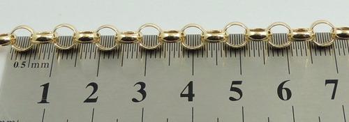 92d977cfb71f1 Gargantilha Cordão Feminina Elo Portugues 45cm 5g Ouro 18k. Preço  R  1290  Veja MercadoLibre