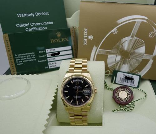 82f38e2900f Relógio Rolex Day Date Presidente+caixa E Documeto Originais
