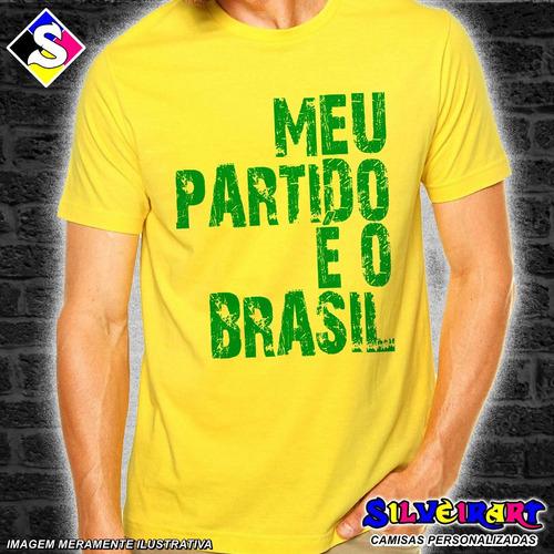 8 Camisas Bolsonaro - Meu Partido É O Brasil - Frete Grátis 496f48f796b42