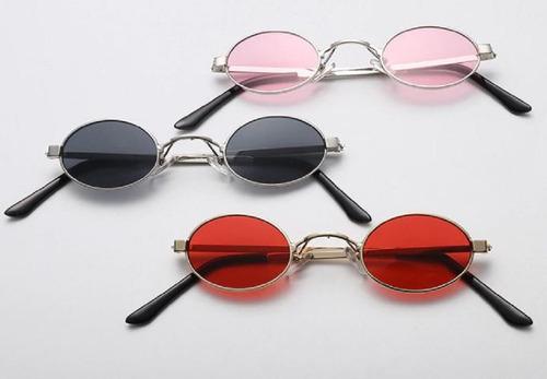 d44f0e1a6 Óculos Sol Pequeno Retrô Redondo Oval Uv400 Masc Fem+ Brinde