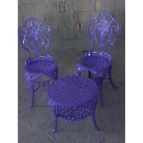 Jogo Cadeira Mais Mesa Jardim Varanda Chinês Aluminio