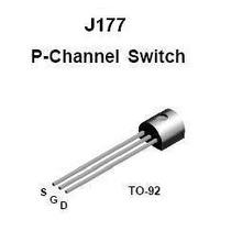 5x Transistor J177, 30v Pnp Jfet Switch To-92 ( C/ 5 Peças)
