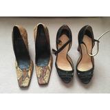 Kit Com Sapatos Louboutin E Casadei 37 Usados