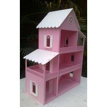Casa Para Boneca Barbie Grande - 130x40x88 - Mdf