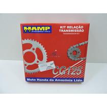 Kit Relação Fan125 2009 2013 Original Honda Hamp Transmissão