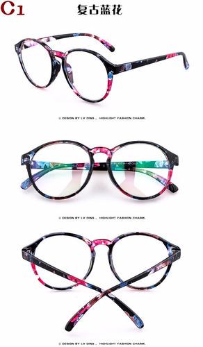 079839069 Armação Óculos De Grau Acetato Redondo Masculino Feminino Bu