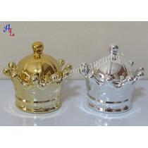 Porta Jóia Mini Coroa De Porcelana Dourada Ou Prata