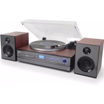 Toca Disco Vinil Bluetooth Hi-fi Usb Fm Cd Grava No Pendrive