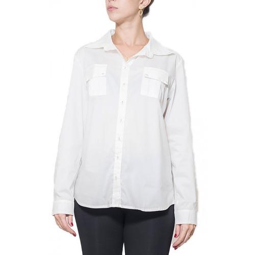 Camisa Gestante Gola 3 Tricoline