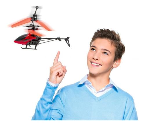 Mini Drone Helicoptero Bateria Recarregavel Luz Led Controle