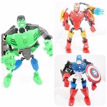 Super Herói Desmontável Hulk Homem De Ferro Capitão América