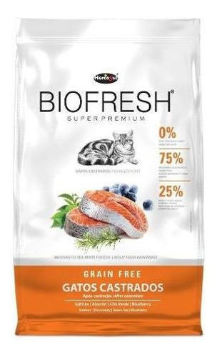 Ração Biofresh Gatos Castrados 7,5kg
