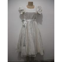 Vestido Infantil Comunhão Dama De Honra Cfe Anuncio