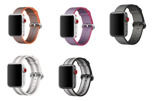 44c1a8e9663 Pulseira Nylon Apple Watch Iwo 42mm 2 Unidades
