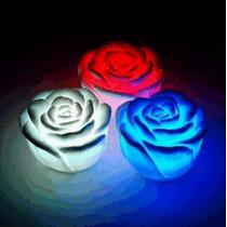 Rosas Iluminadas Por Led - Alterna 7 Cores - Para Decoração