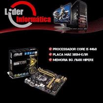Kit Placa Mãe Asus B85m-e + Intel Core I5 4460 + 8gb Kingst
