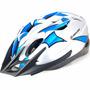 Capacete Ciclista High One Mv184 Azul/prata Bike Bicicleta