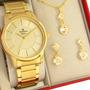 Relógio Champion Feminino Dourado Ouro 18k 1 Ano De Garantia Original