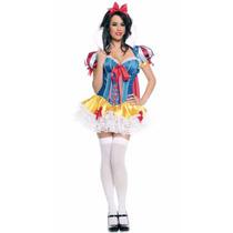 Fantasia Feminina Adulta Princesa Branca De Neve Carnaval!