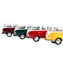 Miniatura 1:32 Volkswagem Kombi 1962 A Fricção E Teto Branco