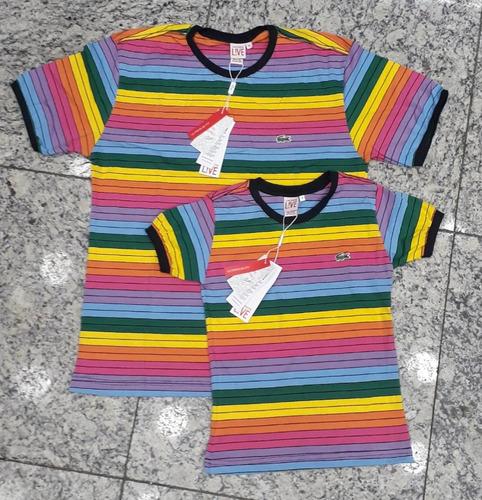 Kit Casal Lacoste , Duas Camisas Arco-íris - R  170 en Melinterest becc64d424
