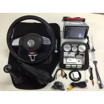 Kit Volante Multifuncional + Central Multimídia Vw Gol G4