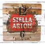 Relógio De Parede Em Madeira Mdf Cerveja Stella