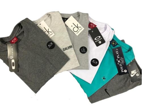 e04930461f8 Kit 5 Camisetas Camisas Masculina Baratas Marcas Famosas à venda em ...