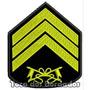 Bordado Termoc. Divisa Terceiro Sargento Patch Guerra Mlt10
