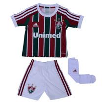 Kit Adidas Fluminense Infantil Camisa Calção E Meião 1magnus