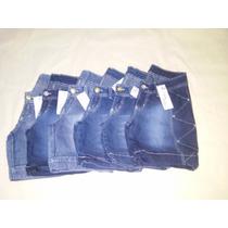 1 Kit De Bermuda Jeans Feminina Meia Coxa 10 Peças